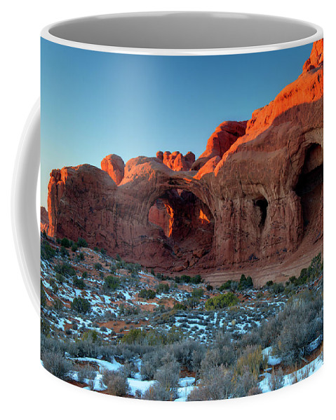 Arches National Park Coffee Mug featuring the photograph Natural Caves by Paul Cannon