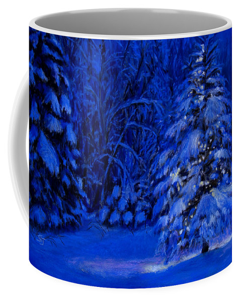 Christmas Tree In The Forest Coffee Mug featuring the pastel Natural Christmas Tree by Susan Jenkins