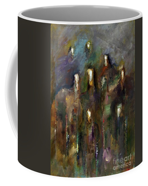 Horses Coffee Mug featuring the painting Natural Instincts by Frances Marino