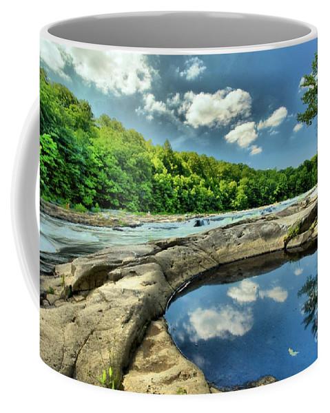 Youghiogheny River Coffee Mug featuring the photograph Natural Swimming Pool by Adam Jewell