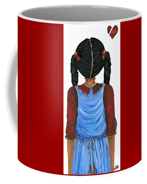 Coffee Mug featuring the painting Brianna by Sonja Griffin Evans