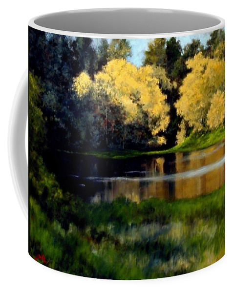 Landscape Coffee Mug featuring the painting Nature Walk by Jim Gola