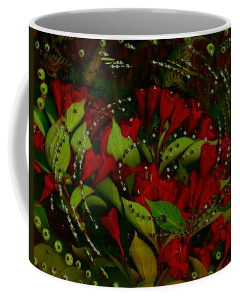 Flower Coffee Mug featuring the mixed media Nature When Its Magical by Pepita Selles