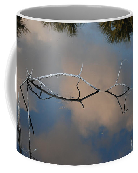 Pink Coffee Mug featuring the photograph Natures Bridge In Color by Rob Hans