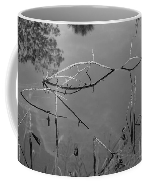 Black And White Coffee Mug featuring the photograph Natures Bridge by Rob Hans