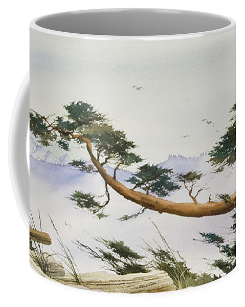 Landscape Fine Art Print Coffee Mug featuring the painting Natures Creation by James Williamson