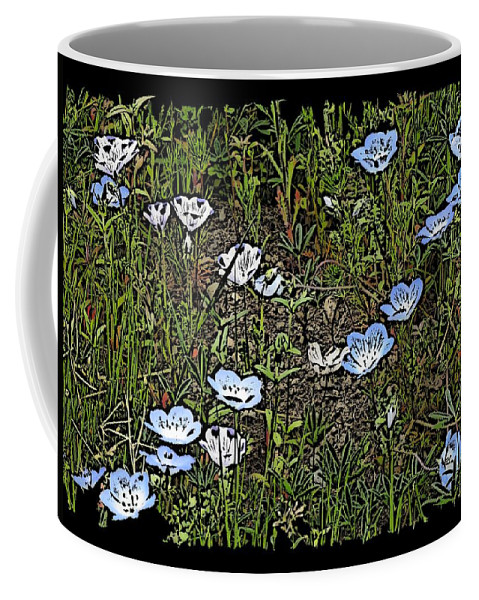 Flowers Coffee Mug featuring the digital art Natures Field Of Dreams by Tim Allen