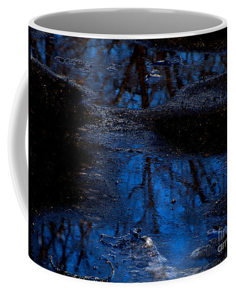 Blue Coffee Mug featuring the photograph Natures Looking Glass by September Stone