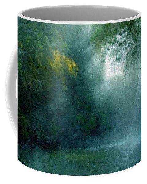Nature Coffee Mug featuring the mixed media Nature's Mystique by Georgiana Romanovna