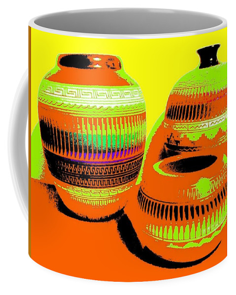 Abstract Coffee Mug featuring the digital art Navajo Pots by Will Borden