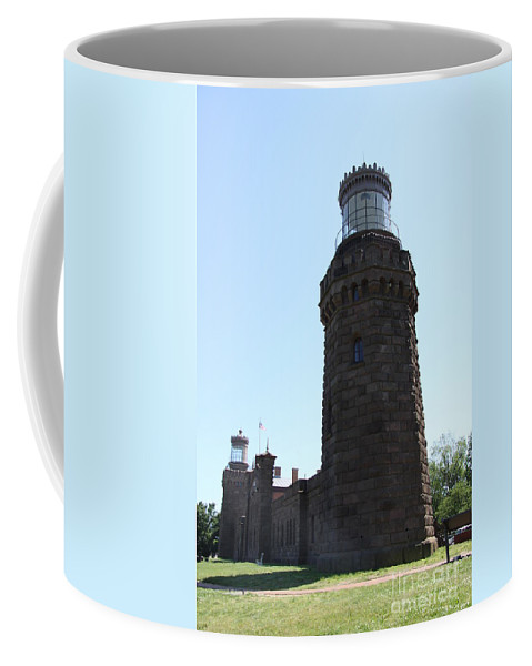 Navesink Twinlight Coffee Mug featuring the photograph Navesink Twinlights by Christiane Schulze Art And Photography