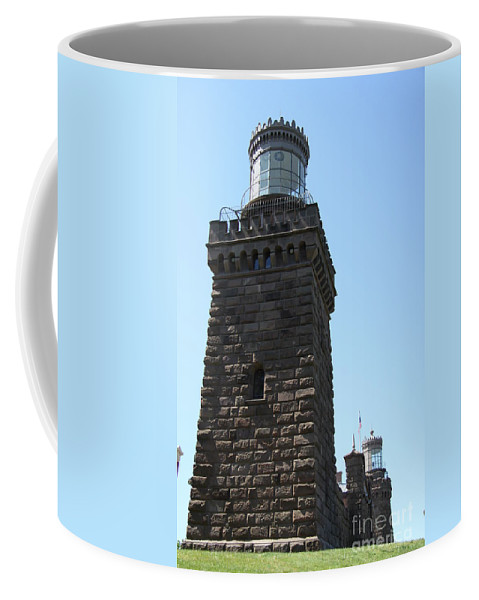 Twinlights Coffee Mug featuring the photograph Navesink Twinlights II by Christiane Schulze Art And Photography
