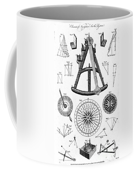 Historic Coffee Mug featuring the photograph Navigational Instruments, E.g. Sextant by Wellcome Images
