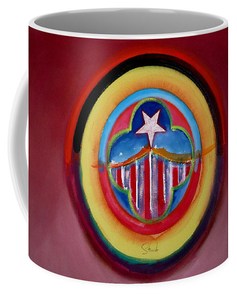 Button Coffee Mug featuring the painting Navy by Charles Stuart