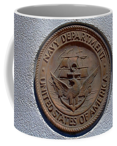 Navy Coffee Mug featuring the photograph Navy Dragon by Keenan Goodson