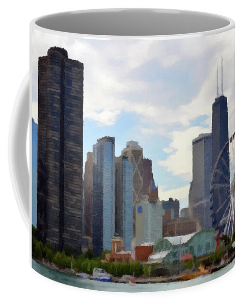 Navy Pier Coffee Mug featuring the photograph Navy Pier Chicago Illinois by David Dehner