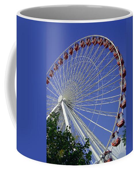 Ferris Wheel Coffee Mug featuring the photograph Navy Pier Ferris Wheel 2 by Angelina Vick