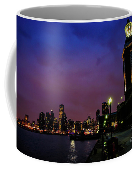 Chicago Coffee Mug featuring the photograph Navy Pier Sunset by Brandon Hirt