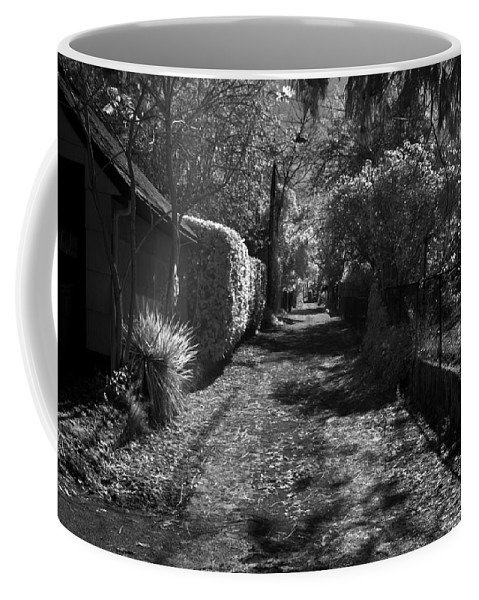 B&w Coffee Mug featuring the photograph Ne Portland Alley by Lee Santa