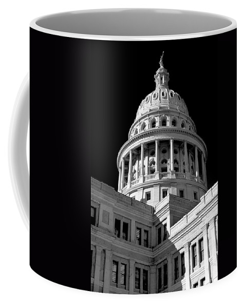Gothic Coffee Mug featuring the photograph Near Infrared Image Of The Texas State Capitol by David Thompson