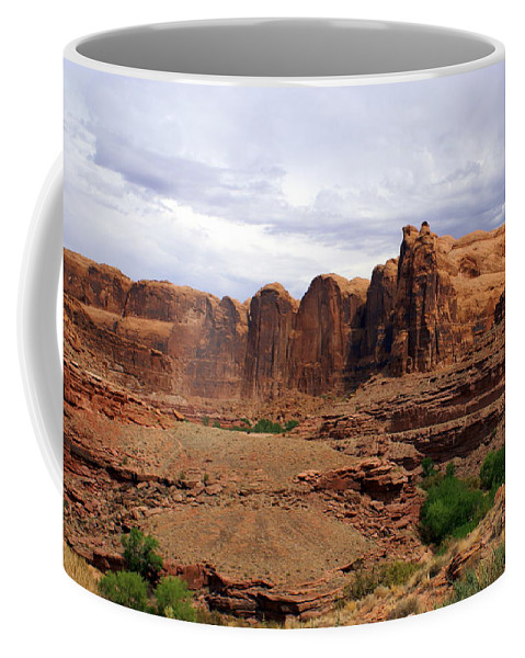 Canyon Coffee Mug featuring the photograph Near Moab 4 by Marty Koch
