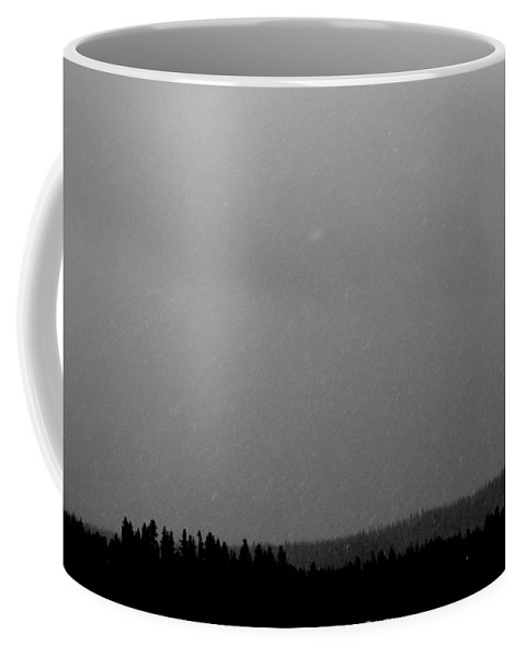Snow Coffee Mug featuring the photograph Near Whiteout by Steven MacAulay