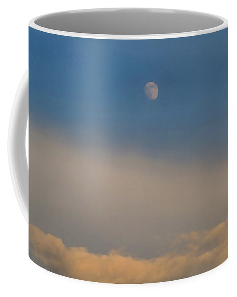 Moon Coffee Mug featuring the photograph Nearly Full Moon 1 by Kathryn Meyer