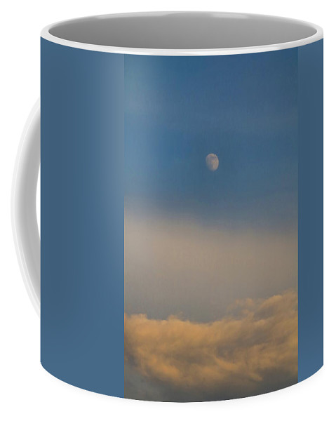 Moon Coffee Mug featuring the photograph Nearly Full Moon 2 by Kathryn Meyer