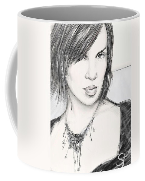 Portrait Coffee Mug featuring the digital art Necklace by Scott Waters