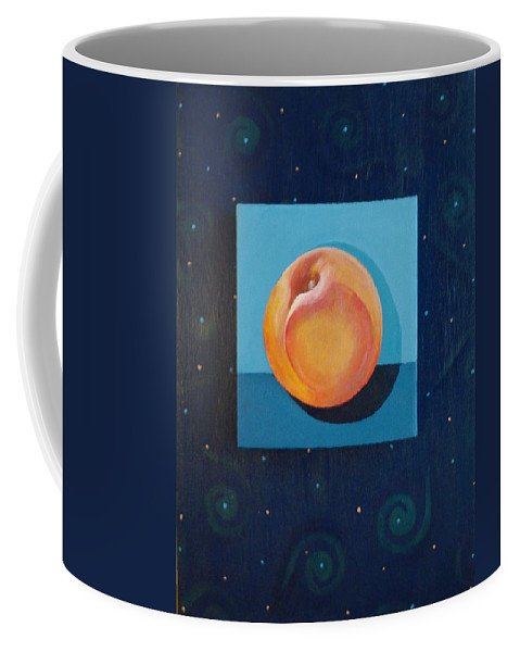 Nectarine Coffee Mug featuring the painting Nectarine by Helena Tiainen