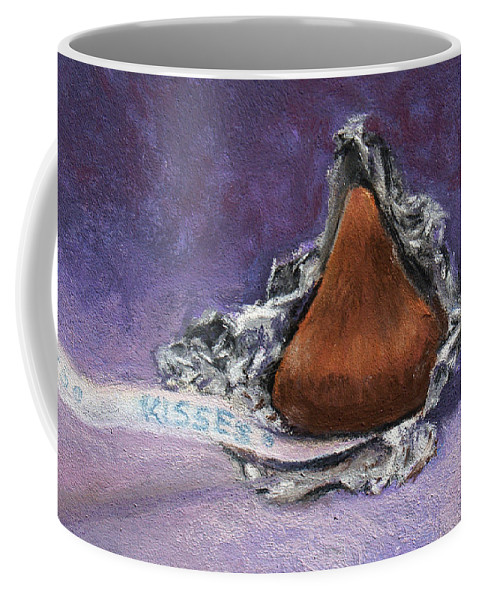 Still Life Coffee Mug featuring the painting Need A Kiss by Susan Jenkins