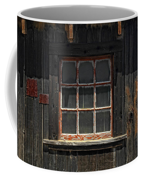 Old Window Coffee Mug featuring the photograph Need Windex by Donna Blackhall