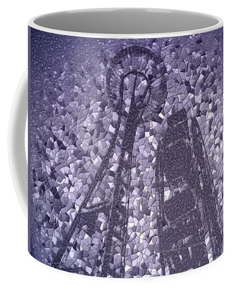 Seattle Coffee Mug featuring the photograph Needle And Ferris Wheel Mosaic by Tim Allen