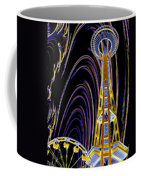 Seattle Coffee Mug featuring the photograph Needle And The Firefly by Tim Allen