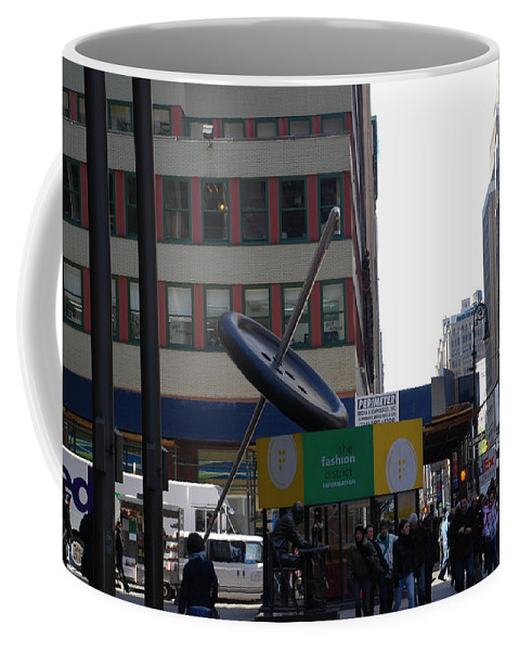 City Scape Coffee Mug featuring the photograph Needle Button by Rob Hans