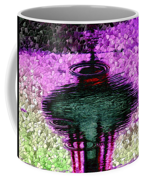 Seattle Coffee Mug featuring the digital art Needle In A Raindrop Stack 3 by Tim Allen