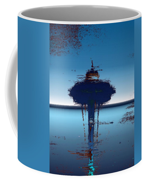 Seattle Coffee Mug featuring the digital art Needle In A Raindrop Stack 4 by Tim Allen
