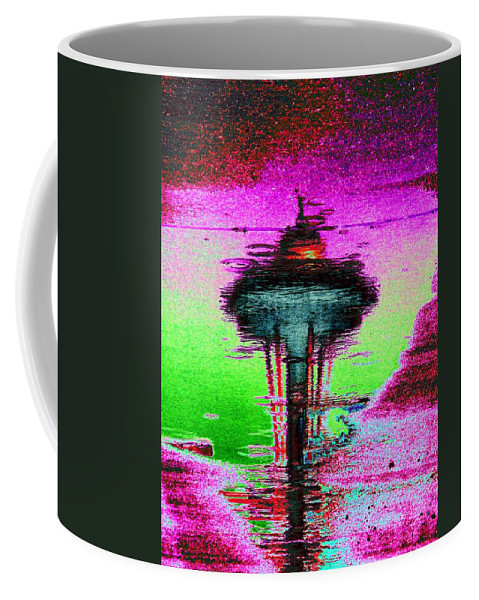 Seattle Coffee Mug featuring the digital art Needle In A Raindrop Stack by Tim Allen