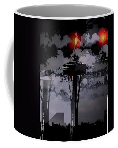 Seattle Coffee Mug featuring the digital art Needle In Flux by Tim Allen