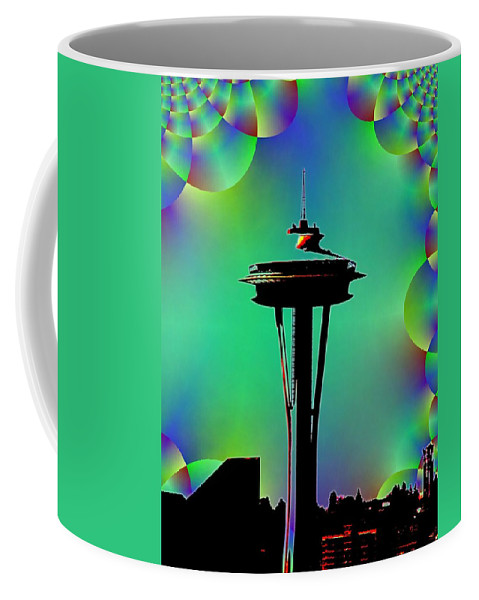 Seattle Coffee Mug featuring the digital art Needle In Fractal 3 by Tim Allen