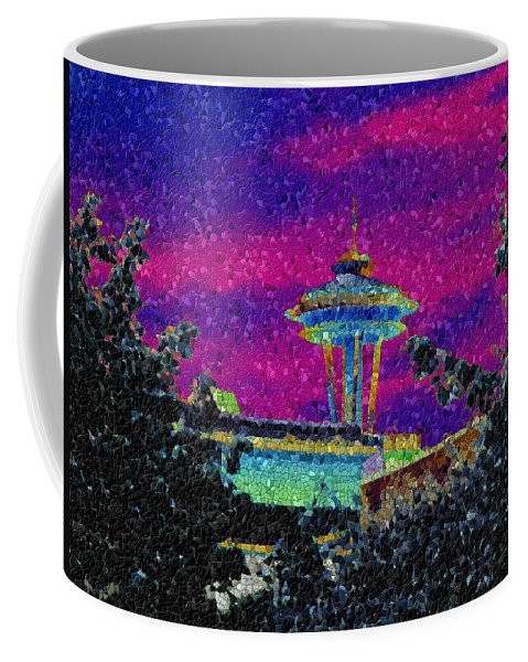 Seattle Coffee Mug featuring the photograph Needle In Mosaic 2 by Tim Allen