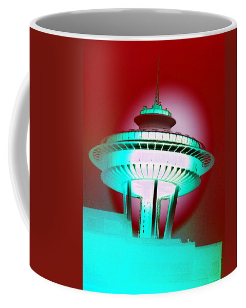 Seattle Coffee Mug featuring the photograph Needle In Red by Tim Allen