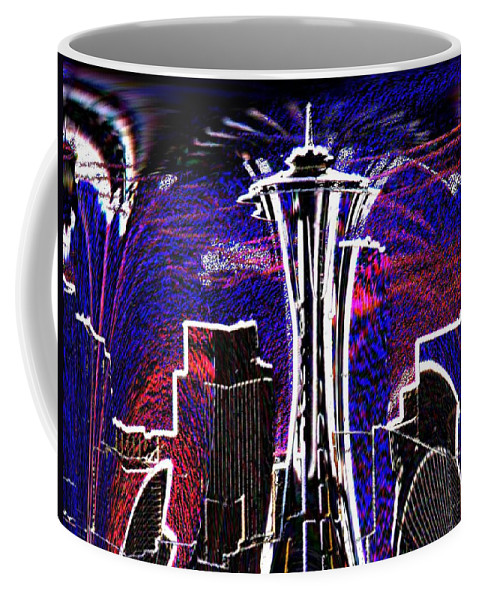 Seattle Coffee Mug featuring the photograph Needle In The City by Tim Allen