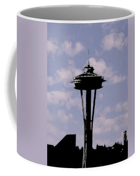 Seattle Coffee Mug featuring the digital art Needle In The Clouds by Tim Allen
