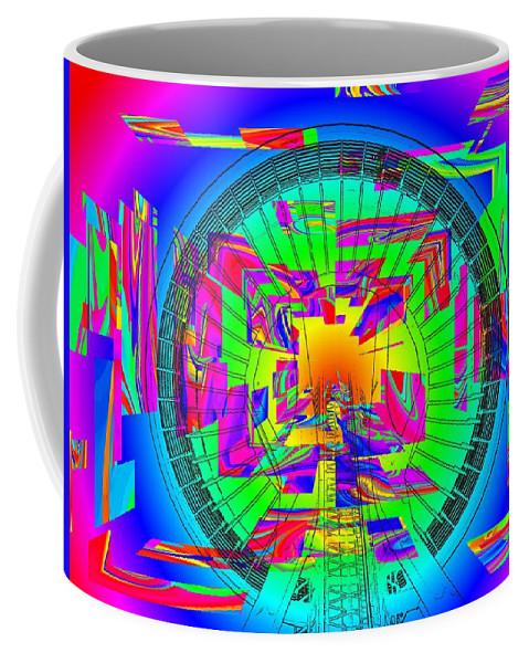 Needle Coffee Mug featuring the digital art Needle In The Vortex by Tim Allen