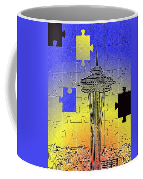 Seattle Coffee Mug featuring the photograph Needle Jigsaw by Tim Allen