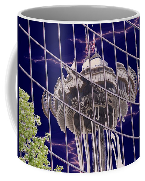 Seattle Coffee Mug featuring the digital art Needle Reflection by Tim Allen