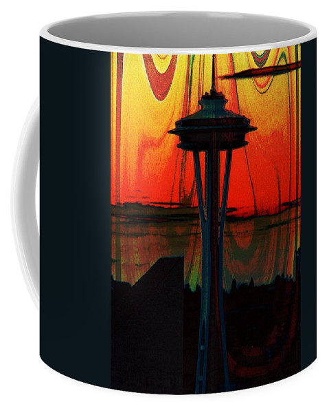 Seattle Coffee Mug featuring the photograph Needle Silhouette 3 by Tim Allen