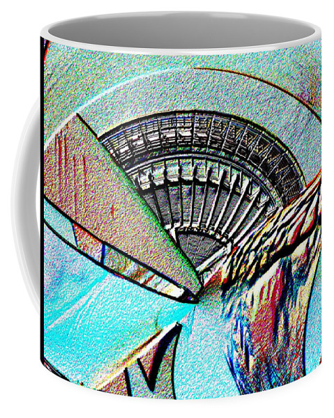 Seattle Coffee Mug featuring the digital art Needle Tubes by Tim Allen