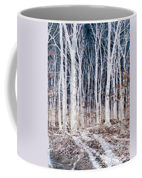 Tree Coffee Mug featuring the photograph Negative Spaces by Lauren Radke
